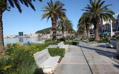 The waterfront of Split, Croatia.