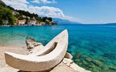 The Adriatic sea on the Croatia coastline.