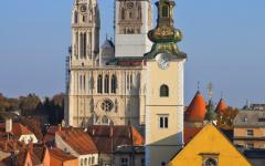 The cathedral in Zagreb, Croatia.