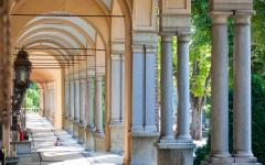 Arches of Mirogoj Cemetary in Zagreb, Croatia.