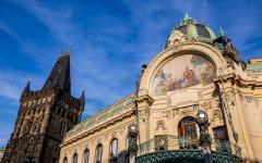 Obecni Dum is an Art Noveau building that houses the concert hall Smetana Hall.