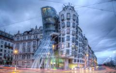 The Fred and Ginger Dancing House in Prague.