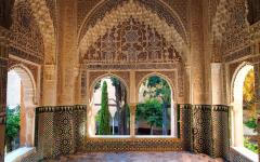 spain granada inside teh nasrid palace in the alhambra