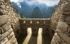 Views from the ancient city of Machu Picchu.