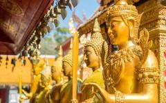 Golden Buddhas at Wat Phra That Doi Suthep in Chiang Mai.