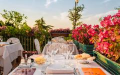 An Italian restaurant on the hills of Dozza.