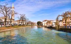 The brenta river in Venice, Italy.
