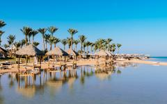 Sharm El Sheikh Beach on the Red Sea.
