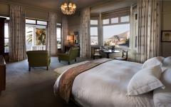 Luxurious view of a bedroom at the Ellerman House in Cape Town, South Africa