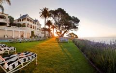View of the elegant mansion of Ellerman House at sunset | Cape Town,  South Africa