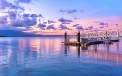 Stunning sunset over Port Douglas, Australia.
