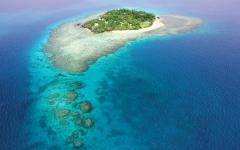 Aerial view of Royal Davui Island. Photo courtesy of Royal Davui.