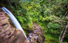 A Colombian waterfall.