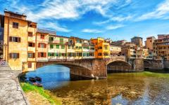 A view of Florence's Ponte Vecchio, on the Arno River. Credit: Shutterstock