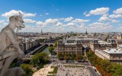 The Paris cityscape.
