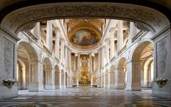 Inside the Palace of Versailles.