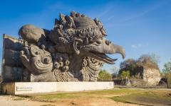 garuda statue in bali indonesia