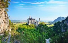 the 19th century Neuschwanstein castle in bavaria in summer