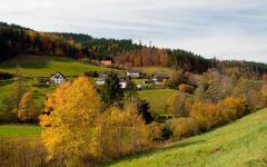 Panoramic view of Baiersbronn in the Black Forest