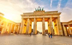 Brandenburg Gate at Sunset, Berlin, Germany