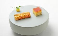 Duck foie gras parfait, green pepper and pineapple, Les Deux