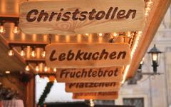 Christmas market sign, Munich