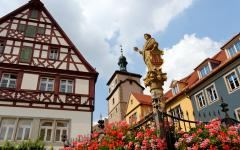 Seelbrunnen Fountain, Rothenburg, Germany