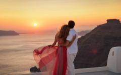 Special Santorini view.