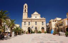 The Chania Church at midday in Crete, Greece