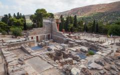 The ruins of Knossos Palace in Heraklion, Crete, Greece