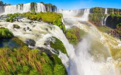 Iguazu Falls on the border of Argentina.