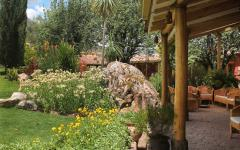 An outdoor space at Villa Urubamba. Photo: Courtesy Villa Urubamba