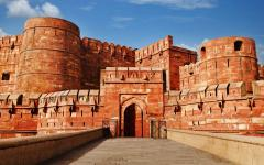 Entrace to Agra Fort in Agra India