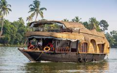 Houseboat in Kochin, India.