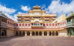 The beautiful Mahal Palace located in Jaipur India
