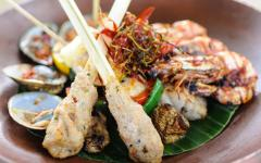 Indonesian style seafood.