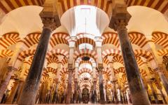 Inside the Mesquita, in Cordoba.