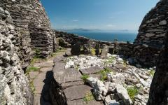 The monastery at Skellig Michael.