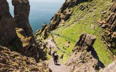 Hiking Skellig Michael, an UNESCO World Heritage site.