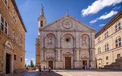 Pienza Cathedral in Siena, Italy.
