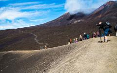 Hiking Mount Etna. Photo Credit: Etna Tribe