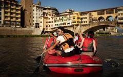 Arno River Rafting through Florence. Photo Credit: Firenze Rafting