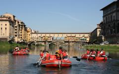 Rafting under Ponte Vecchio. Photo Credit: Firenze Rafting