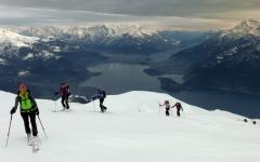 Snow Ski over Lake Como. Photo Credit: Hotel Europa