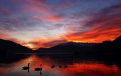 Lake Como Sunset at Hotel Europa. Photo Credit: Hotel Europa