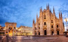 Milan Cathedral is the third largest church in the world.