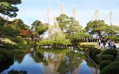 Kenrokuen gardens in Kanazawa. Photo by 663highland.