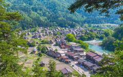 Shirakawa village in Takayama.