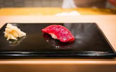Akami tuna in Sukiyabashi Jiro, Jiro Ono's Michelin-starred restaurant. Photo by City Foodsters on Flickr.