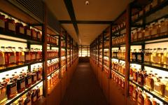 Whisky library at Yamazaki Distillery. Photo by yukink on Flickr.